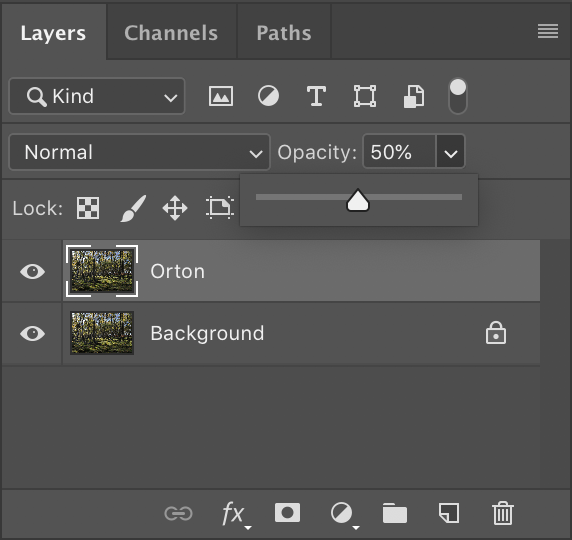 photoshop layer opacity